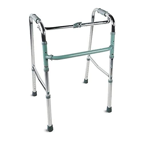 Mobiclinic, Modelo Columna, Andador para adultos, ancianos, mayores o minusvalidos, de aluminio, ligero, plegable, Sin ruedas, Color Gris 🔥