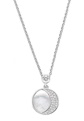 JETTE Silver Damen-Kette 925er Silber 53 Perlmutt One Size 87899918