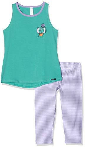 Skiny Mädchen Pyjama 3/4 lang Cosy Night Sleep Girls Schlafanzughose, Grün (Agate Green 2578), (Herstellergröße:164)