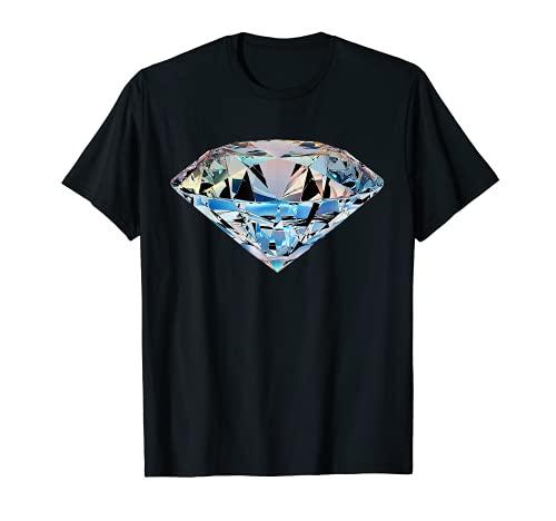 Cool Diamond Shape Jewellery Sparkle Bling Graphic T-Shirt
