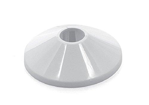 10 Stück Heizungsrosetten Heizungsmanschetten Heizrohrmanschetten Heizrohrrosetten Einzelrosetten weiß 12 mm