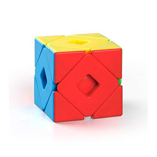 SXPC Cubo de Velocidad mágica de inclinación Doble, Rompecabezas de enseñanza sin Pegatinas, Cubo de Velocidad, Juguetes educativos para niños