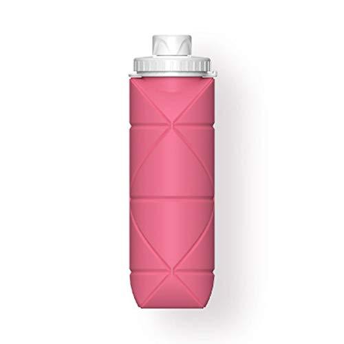 Vaso plegable de silicona,Tazas de viaje plegables,Tazas de silicona plegables con tapa de sellado de plástico,Senderismo al aire libre Viajes (600 ml cada uno) Vaso de viaje reutilizable sin BPA
