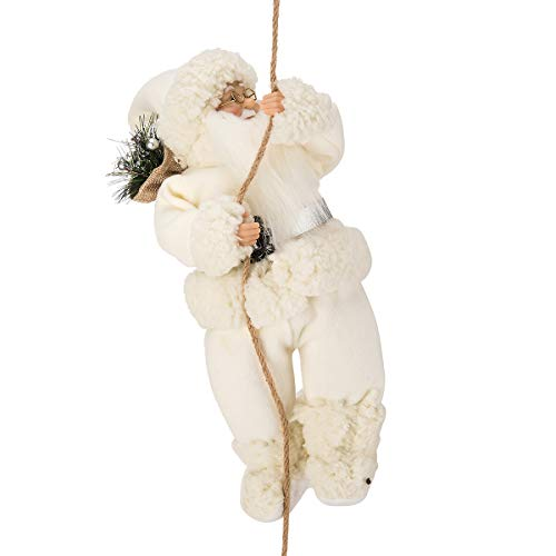 ARCCI Santa Claus Climbing on Rope Christmas Ornament for Xmas Tree Home Hanging Decoration Holiday Decor