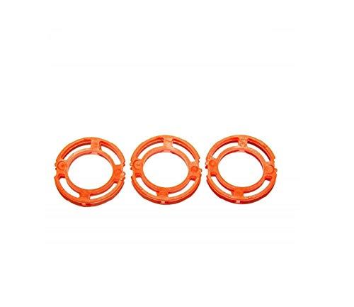 3x ORANGE Blade Retaining Ring Holder Clip For Philips Norelco RQ12+ Head S7310 S7311 S7320 S7340 S7350 S7360 S7370 S7371 S7510 S7520 S7521 S7522 S7530 S7550 S7560 S7561 S7710 S7720 S7730 S7740 S7780