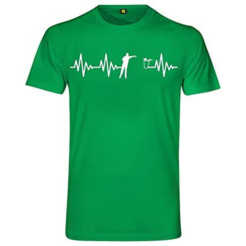 Herzschlag Bier Pong T-Shirt   EKG   Bierpong   Beer   Beerpong   Party Alkohol Grün XL