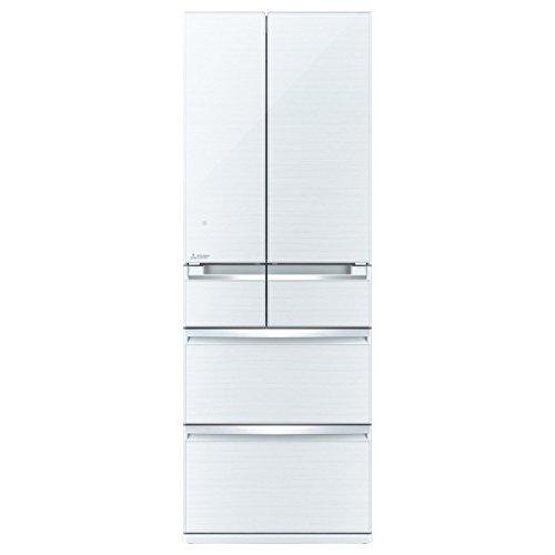 三菱 475L 6ドア冷蔵庫(クリスタルホワイト)MITSUBISHI 置けるスマート大容量 切れちゃう瞬冷凍 MR-WX48Z-W
