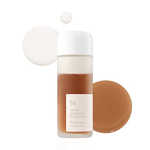 Vegan Kombucha Cream Essence, Cruelty FreeㅣThe most Effective all-in-one serumㅣKorean Skin Care Contains Kombucha, Tea extract 78%, Camellia, Sunflower Seed OilㅣNot Tested On Animals   Dr.Ceuracle