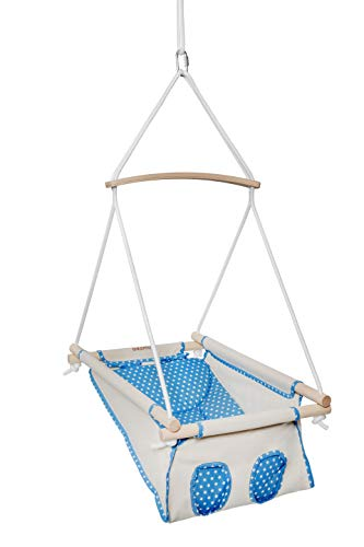 Adamo Hammock Babyschaukel/Hängematte mit Querstange (Blue Star)