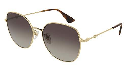 Gucci GG0415SK-002 Occhiali da Sole, Oro, 59.0 Uomo