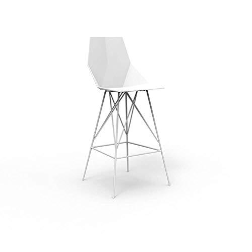 Vondom Faz tabouret pour l'extérieur h. assise 75 cm. blanc