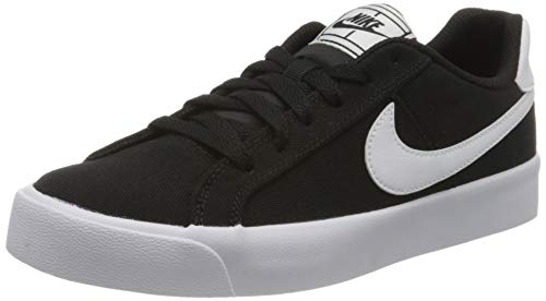Nike Wmns Court Royale AC CNV, Scarpe da Tennis Donna, Black/White, 38.5 EU