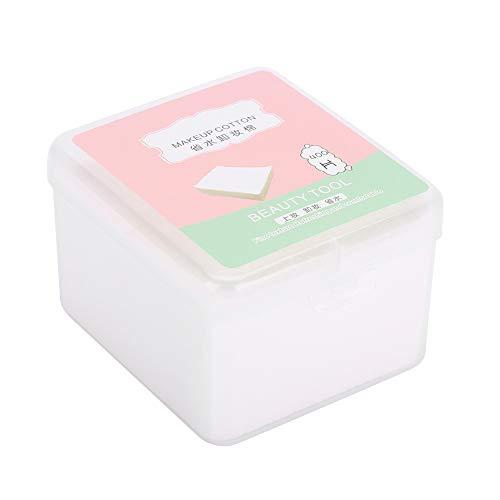 Algodón cosmético facial, Almohadillas de algodón puro de algodón, de doble uso para el cuidado de la piel con desmaquillador