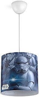 Philips Star Wars Soldado Imperial - Lámpara colgante azul, blanca y negra, casquillo gordo E27, iluminación interior, luz blanca cálida, material síntético