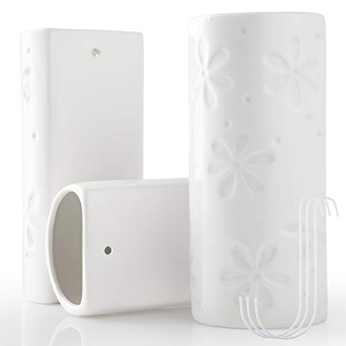 GeeRic Humidificador Radiador, 3PCS humidificador radiador de cerámica 3 Ganchos de evaporador de radiador Flores Mini humidificador de aceites Esenciales 400ml 5.4*10*19.5CM