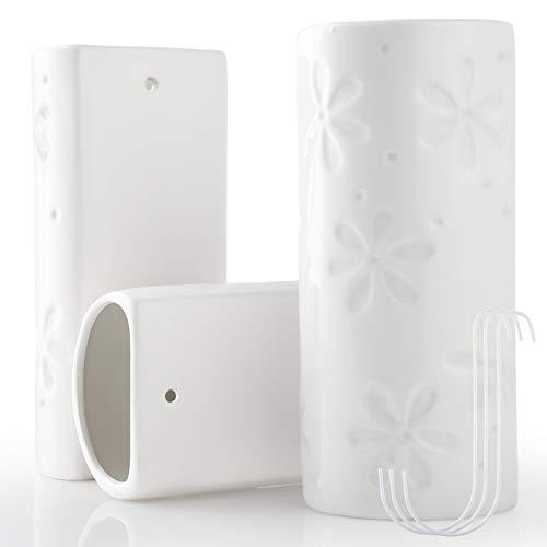 GeeRic Humidificador Radiador, 3PCS humidificador radiador de cerámica 3 Ganchos de evaporador de radiador Flores Mini humidificador de aceites Esenciales 400ml 5.4 * 10 * 19.5CM