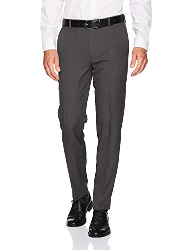 Van Heusen Men's Traveler Slim Fit Pant, Charcoal, 29W X 30L