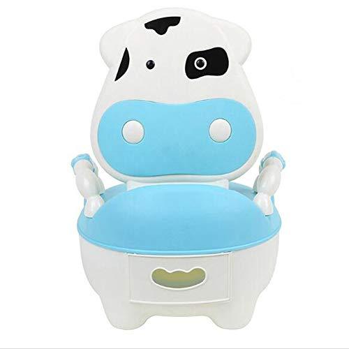 Glenmore Fauteuil Pot Bebe Toilette Garcon Vache Animaux Konfort avec Couvercle Bleu