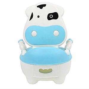 Glenmore Orinal Bebe Orinal para Infantil Niño WC con Tapa Azul