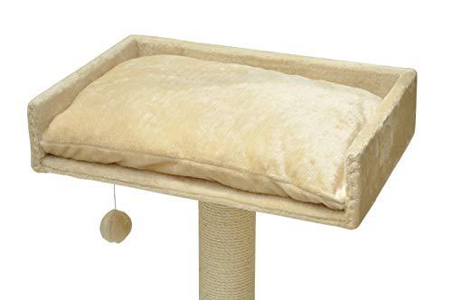 nanook Liegeplatz Top für Katzen-Kratzbaum mit Kissen groß XXL 60x40 cm - beige