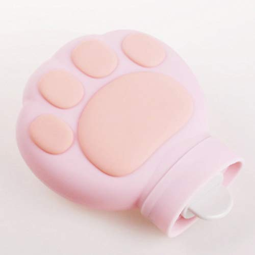 Zoe'Health Hot Water Bottle Cat Paw Rubber,Environmental Silicone,Hot & Cold Therapies,480mL (Pink)