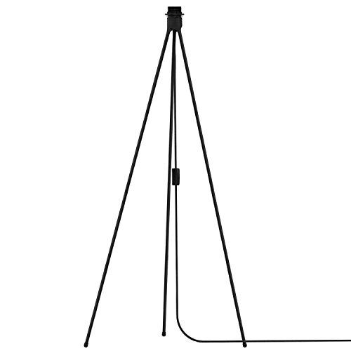Vita Umage Tripod Floor Dreibein-Stativ mit Textilkabel E27 schwarz 66 x 66 x 109 cm für A++ bis E Lampe