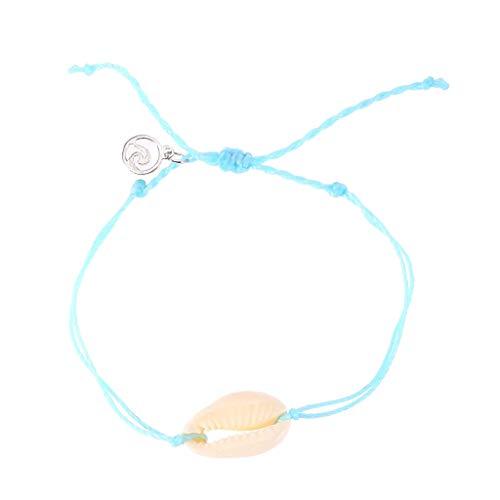 UINGKID Damen-Armband Armreif natürliche Shell handgewebte einstellbare Pull Armband Damen Schmuck