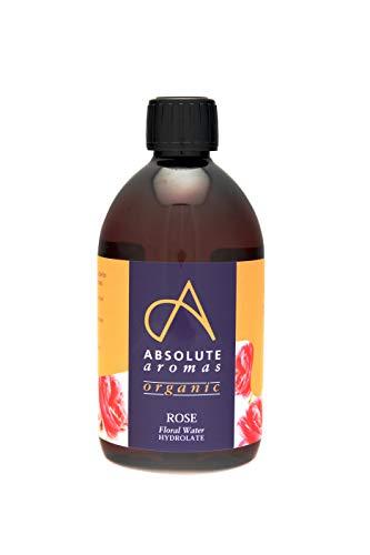 Absolute Aromas Agua de Rosa Búlgara Orgánica Certificada 500ml - Tonificante Facial Puro, Natural, Nutritivo e Hidratante - Apto para todo tipo de piel