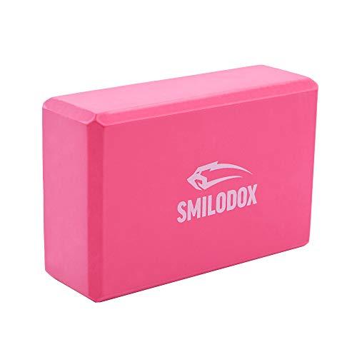 SMILODOX Bloque de yoga I Ideal para HomeWorkout I Yoga & Pilates i Dispositivo de entrenamiento para el hogar, Color:rosa