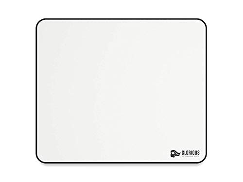 Glorious Large Gaming Mouse Mat/Pad - Stitched Edges, White Cloth Mousepad | 11'x13' (GW-L)