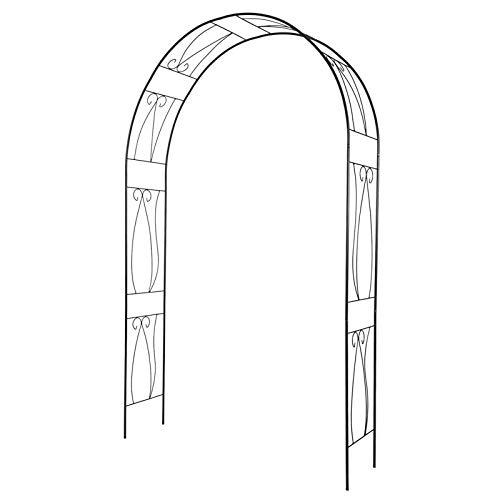 HRXQ Arco De Metal, Enrejado, Arco para Trepadoras, Arco De Jardin para Plantas,153×35×233 Cm,Elegante Estilo Europeo - Color : Negro