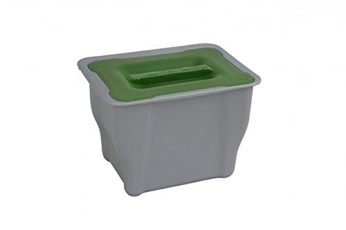 1PLUS (Bio Mülleimer Abfalleimer mit Deckel 5l, auch zum Einhängen