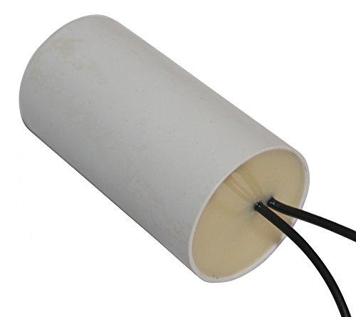 AERZETIX - Condensador Permanente para Trabajo de Motor - 14µF 450V - ⌀35/65mm - à 2 cables - Cuerpo de Plástico Cilíndrico Blanco - C10226