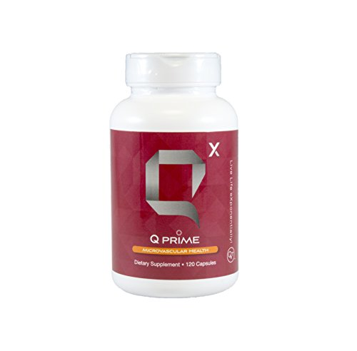 Q Prime Best Blood Flow Optimizer for Vascular Health and Blood Circulation, Glucosamine Sulfate and Artichoke Extract with the Best Antioxidant Vitamins, Increase Blood Flow Enhancement, 120 Capsules