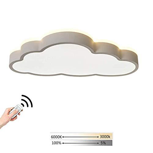 Plafondlamp voor kinderkamer, plafondlamp voor slaapkamer, moderne ledlamp voor kinderen, dimbaar via afstandsbediening, creatieve verlichting boven en beneden 360° lamp incl.