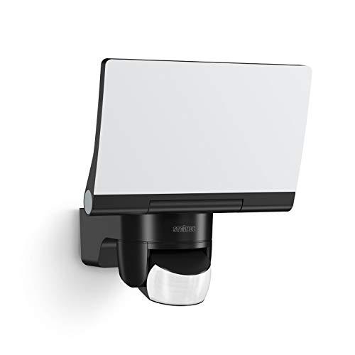 Steinel Smart Home LED Außenstrahler XLED Home 2 Z-Wave schwarz, Smart Friends-Hausautomation, Flutlicht voll schwenkbar