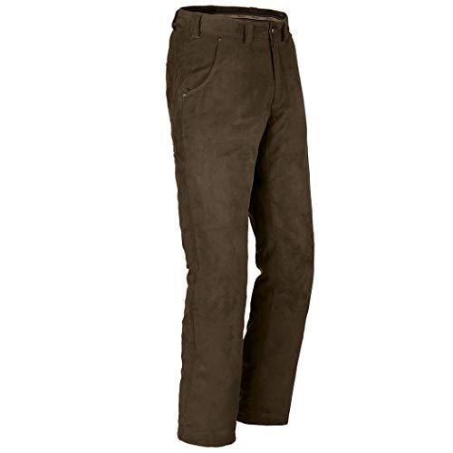 Blaser - Pantalones de ante para hombre (impermeables, pantalones de caza, resistentes al viento, con bolsillo para cuchillos, talla 48)
