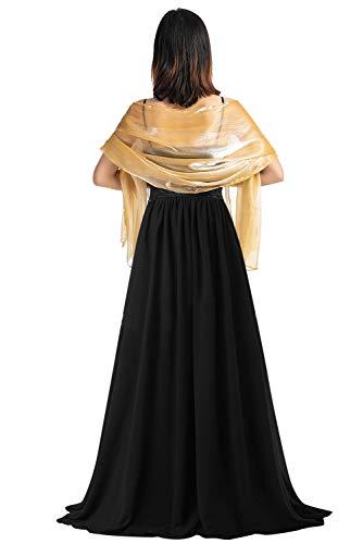 YAOMEI Mujer Bufanda Chales Estolas Satén, Mujer Verano Mantón Estolas