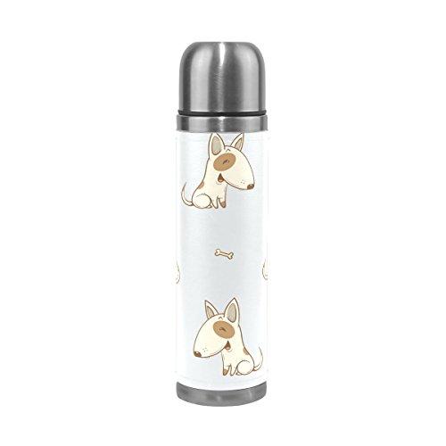 Ffy Go Travel Mug, Cute Mouse imprimé animal personnalisé Thermos en acier inoxydable LeakProof Thermos isotherme extérieur Cuir pour filles garçons 500 ml