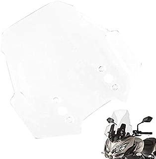 SovelyBoFan Pare-Brise de Moto Pare-Brise vec Support de Fixation pour G310R G 310 R 2016-2018 Gris Clair