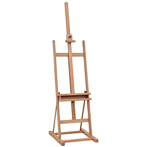 Chevalet dartiste sur pieds hauteur réglable 16 niveaux inclinaison réglable 80° max. niche rangement bois de hêtre