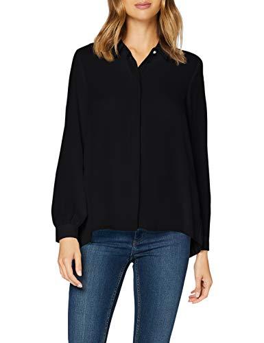 Only ONLVIOLA L/S Plisse Shirt WVN Blouse, Noir, M Femme