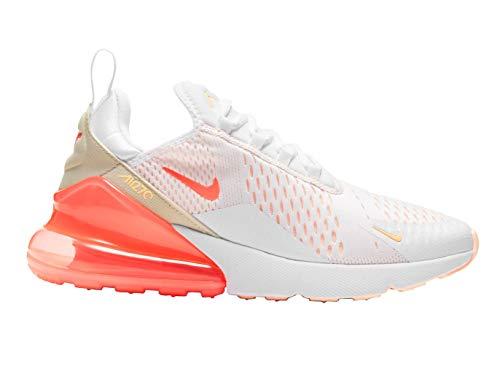 Nike WMNS AIR Max 270 ESS, Chaussure de Course Femme, White BRT Mango Crimson Tint Pearl White, 40 EU