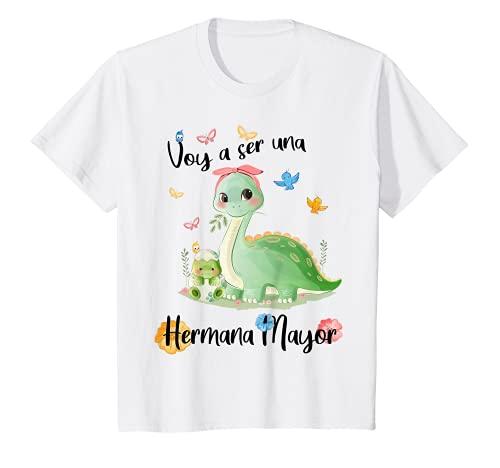 Niños Voy a ser una Hermana Mayor 2022 Anunciar Embarazo Camiseta