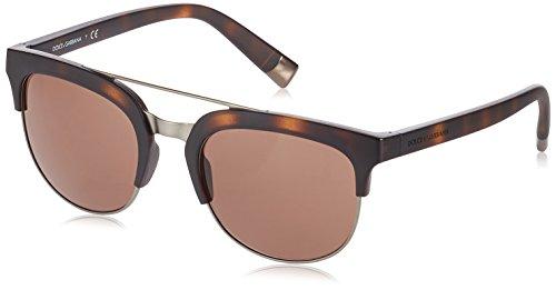 Dolce & Gabbana Herren Sonnenbrille 0DG6103, Braun (Matte Dark Havana 302873), 55