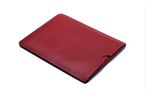 For Dell XPS 15 Microfiber Leather Laptop Sleeve Case Laptop Bag Slim Pouch Cover (Red)