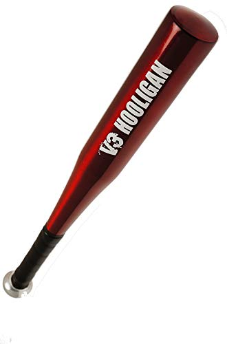 Baseballschläger aus Aluminium | ideal zur Selbstverteidigung & Softball | hochwertes Produkt & top Verarbeitung |: Modell: 25inch V3 Hooligan Red