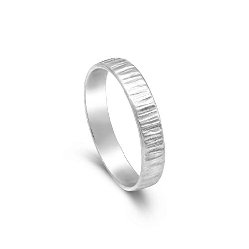 Silberring Damen, Silberring Herren   Silberring gehämmert matt, 925 Silber Ring. Minimalist Silberring, Silberschmuck   Handmade Ring