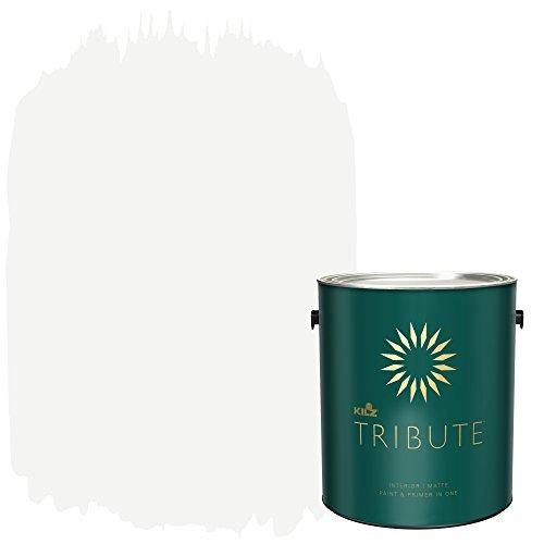 KILZ TRIBUTE Interior Matte Paint and Primer in One, 1 Gallon, Contemporary White (TB-02)