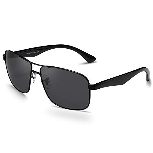 Carfia Polarisierte Herren Sonnenbrille Modische Metallrahmen Fahrer Brille UV400 Schutz CAT 3